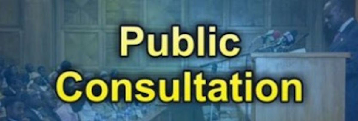 How about a real public consultationprocess?